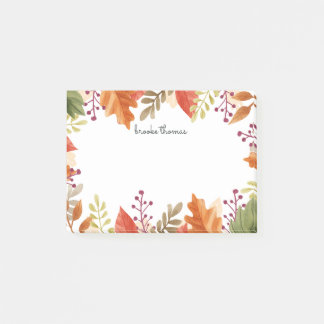 Autumn Foliage Personalized Post-it Notes
