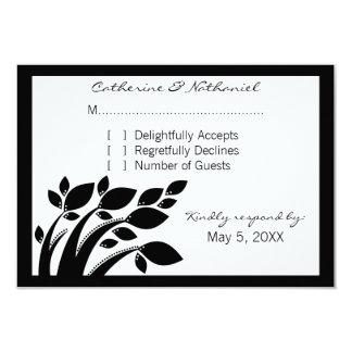 "Autumn Foliage Response Card 3.5"" X 5"" Invitation Card"