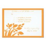 Autumn Foliage Response Card Invitations