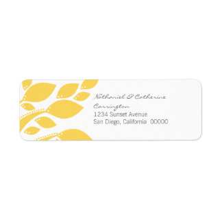 Autumn Foliage Return Address Labels, Yellow Return Address Label