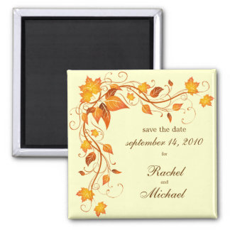 Autumn Foliage Save the Date Magnet