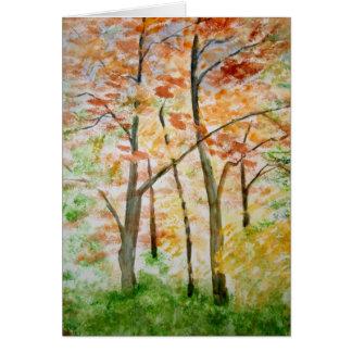 Autumn Foliage Splendor Forest Lake Destiny Cards
