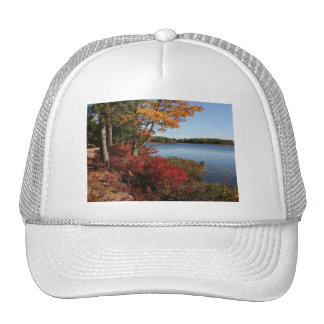 Autumn Foliage Splendor Forest Lake Destiny Hat