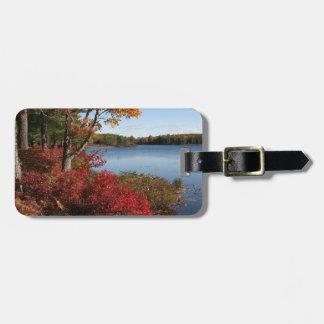 Autumn Foliage Splendor Forest Lake Destiny Travel Bag Tag