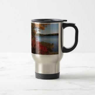 Autumn Foliage Splendor Forest Lake Destiny 15 Oz Stainless Steel Travel Mug