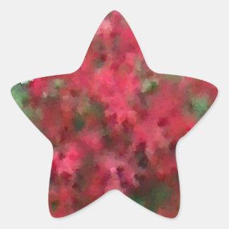 Autumn Foliage Star Sticker