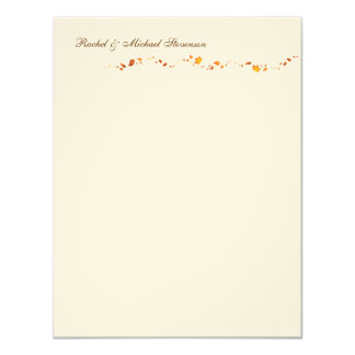Autumn Foliage Thank you Card