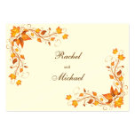 Autumn Foliage Wedding Directions Card Pack Of Chubby Business Cards