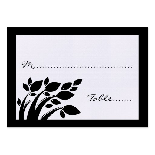 Autumn Foliage Wedding Place Card Pack Of Chubby Business Cards