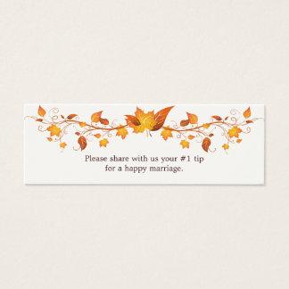 Autumn Foliage Wedding Questionnaire Mini Business Card