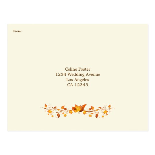 Autumn Foliage Wedding RSVP Postcard