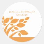 Autumn Foliage Wedding Stickers, Orange