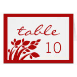 Autumn Foliage Wedding Table Card