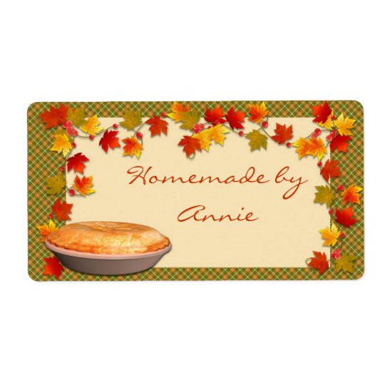 Autumn Food Label Shipping Label