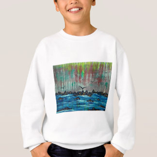 Autumn forest by river sweatshirt