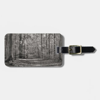 Autumn forest luggage tag