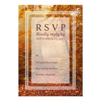 Autumn Forest Path Response RSVP Card