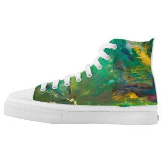 Autumn forest printed shoes