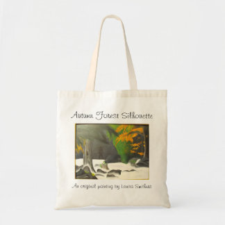 Autumn Forest Silhouette Painting Tote Bag