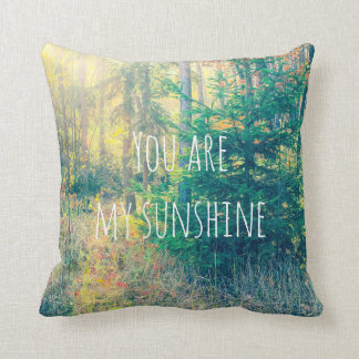 "Autumn forest, ""you are my sunshine"" pillow. throw pillow"