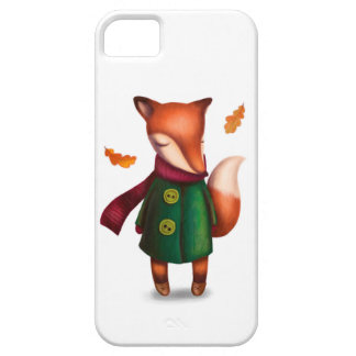 Autumn fox in coat case for the iPhone 5
