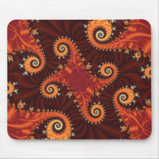 Autumn Fractal Mouse Pad
