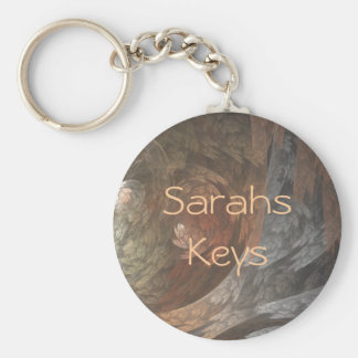 Autumn Fractal Swirl Key Ring