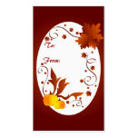 Autumn frame - Gifttag Business Cards