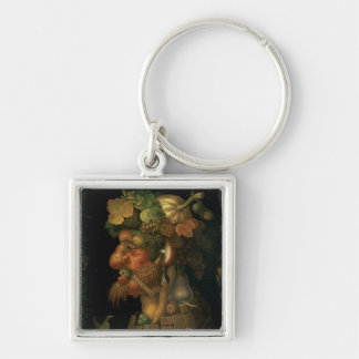 Autumn, from a series depicting the four Silver-Colored square key ring