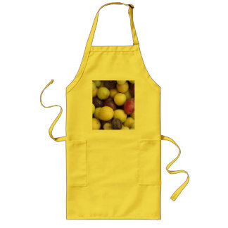 Autumn Fruits Apron - Gold