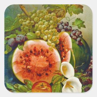 Autumn Fruits c1860 Square Stickers