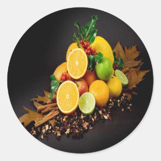 Autumn fruits harvest joy sticker