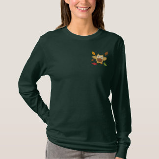 Autumn Fun Embroidered Long Sleeve T-Shirt