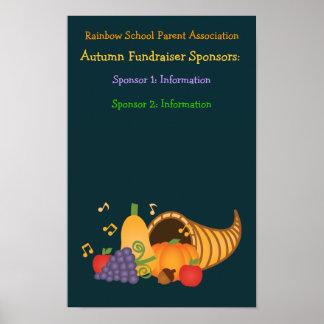 Autumn Fundraiser Sponsors Poster