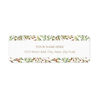 Autumn Garden Address Label