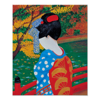 Autumn Geisha Print