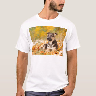 Autumn German shepherd dog puppy T-Shirt