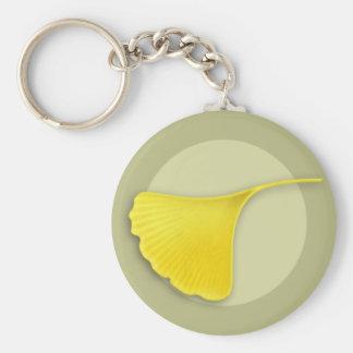 Autumn Ginkgo Leaf Keychain