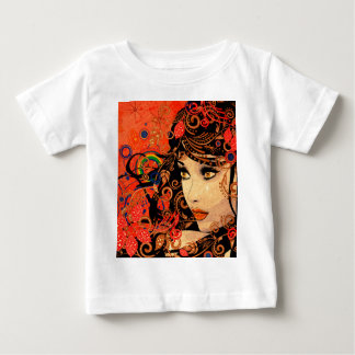 Autumn Girl with Floral Grunge 2 Infant T-Shirt