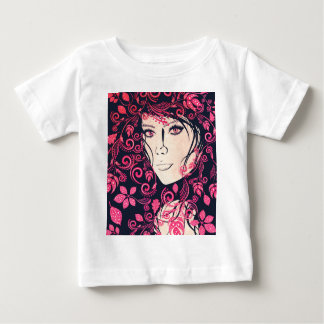 Autumn Girl with Floral Grunge 3 Tee Shirts