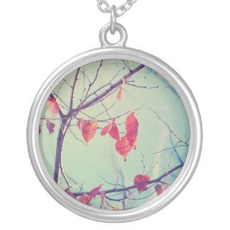 autumn glory round pendant necklace