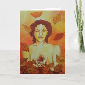 Autumn Goddess Greetings Card