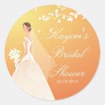 Autumn Gold Bride Bridal Shower Sticker