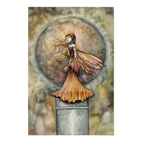 Autumn Gold Fairy Poster Print by Molly Harrison