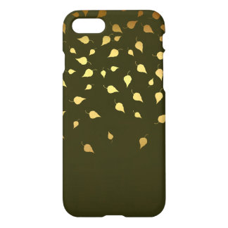 Autumn Gold Leaves Pattern iPhone 8/7 Case
