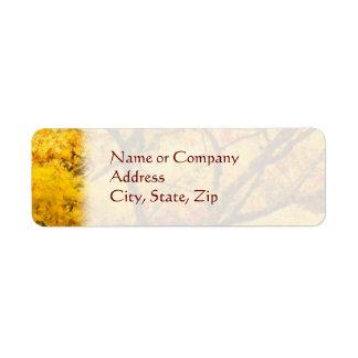 Autumn Gold Return Address Label