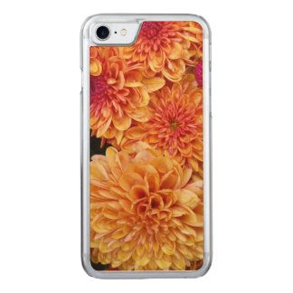 "Autumn Golden Mums ""Chrysanthemums"" Carved iPhone 8/7 Case"