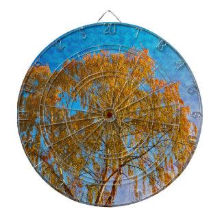Autumn golden tree dartboard