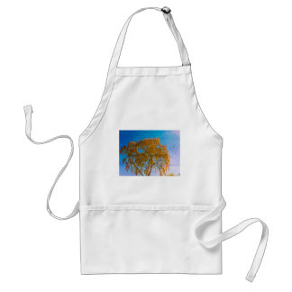 Autumn golden tree standard apron
