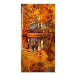 Autumn - Gone Fishing Photo Cards